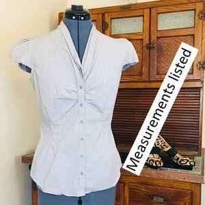 SzS gray white blouse